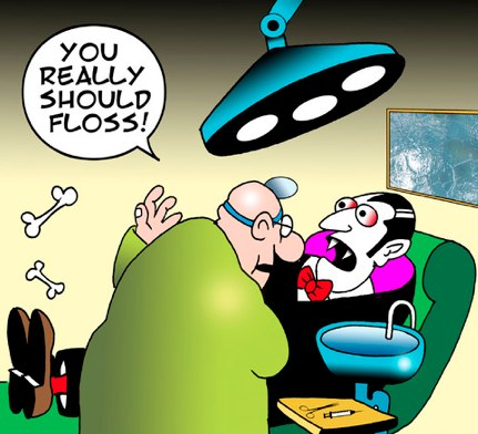 Flossing cartoon