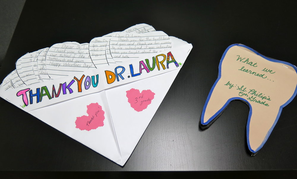 Some thank you notes from the school children!