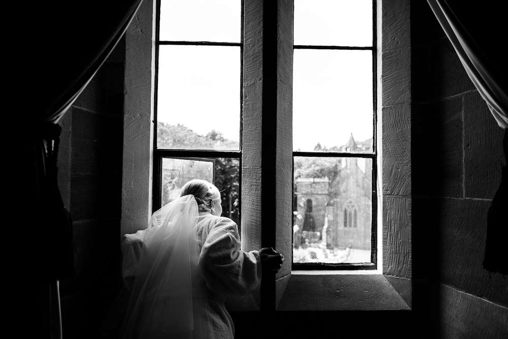 Castle Wedding at Peckforton Castle, Cheshire Owl Falconry Ian Stuart Bride Bandeoke - Jenny Harper Photography-21.jpg
