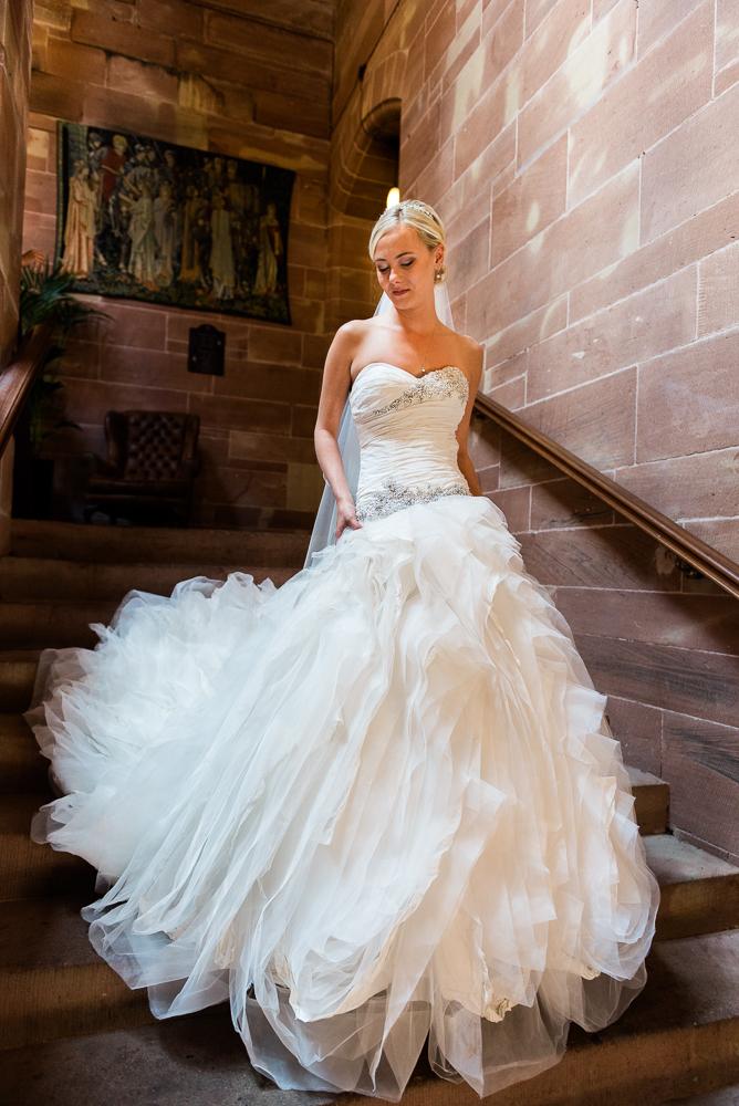 Castle Wedding at Peckforton Castle, Cheshire Owl Falconry Ian Stuart Bride Bandeoke - Jenny Harper Photography-29.jpg
