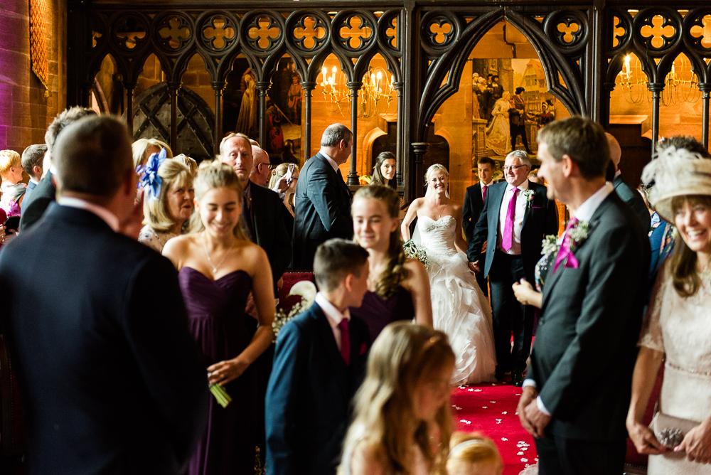 Castle Wedding at Peckforton Castle, Cheshire Owl Falconry Ian Stuart Bride Bandeoke - Jenny Harper Photography-32.jpg