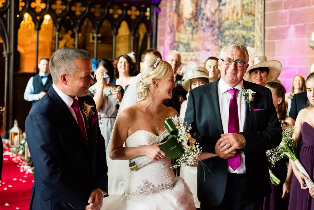 Castle Wedding at Peckforton Castle, Cheshire Owl Falconry Ian Stuart Bride Bandeoke - Jenny Harper Photography-35.jpg