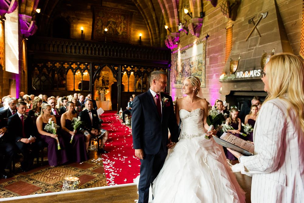 Castle Wedding at Peckforton Castle, Cheshire Owl Falconry Ian Stuart Bride Bandeoke - Jenny Harper Photography-36.jpg