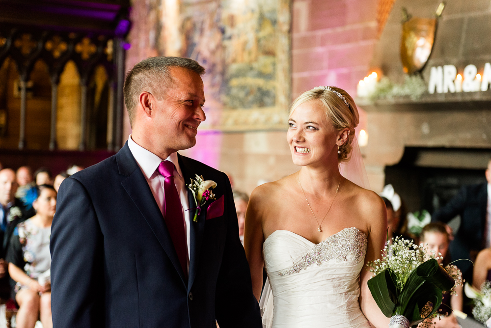 Castle Wedding at Peckforton Castle, Cheshire Owl Falconry Ian Stuart Bride Bandeoke - Jenny Harper Photography-37.jpg