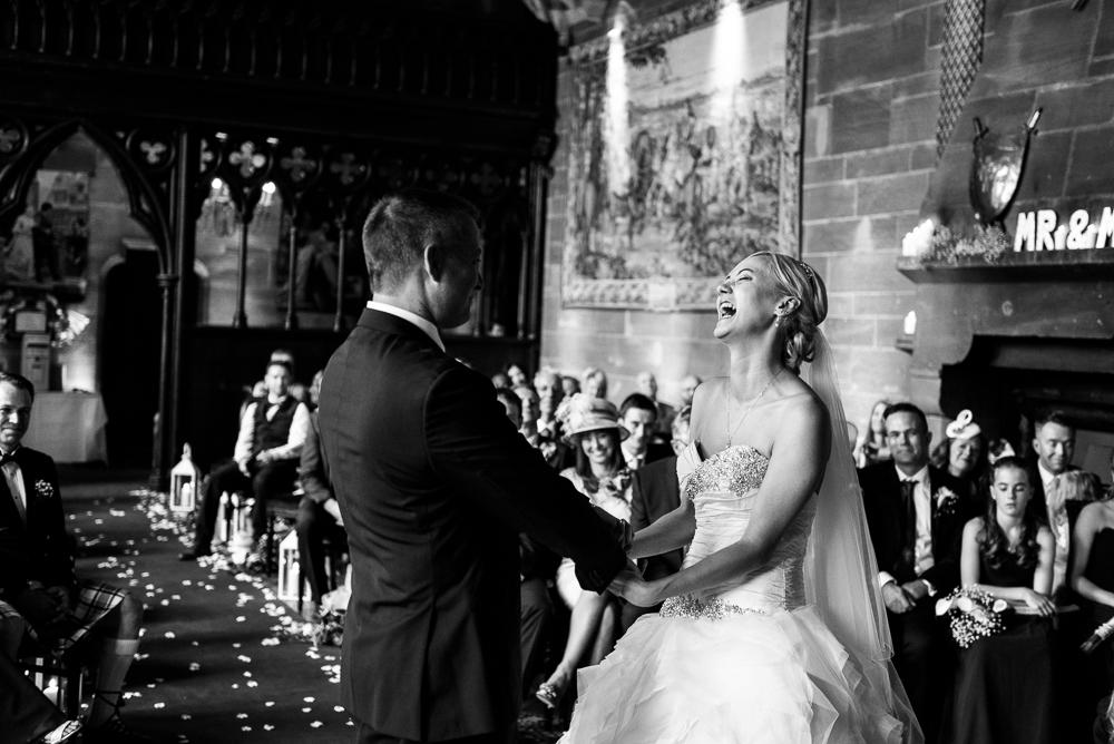 Castle Wedding at Peckforton Castle, Cheshire Owl Falconry Ian Stuart Bride Bandeoke - Jenny Harper Photography-40.jpg