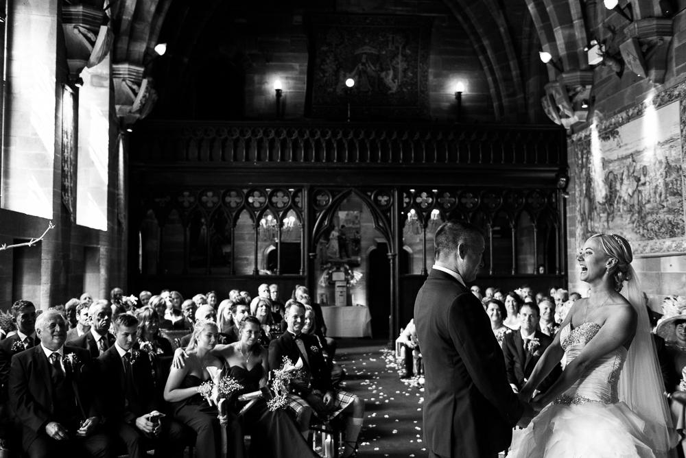 Castle Wedding at Peckforton Castle, Cheshire Owl Falconry Ian Stuart Bride Bandeoke - Jenny Harper Photography-42.jpg