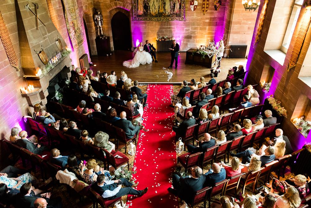 Castle Wedding at Peckforton Castle, Cheshire Owl Falconry Ian Stuart Bride Bandeoke - Jenny Harper Photography-41.jpg