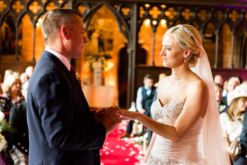 Castle Wedding at Peckforton Castle, Cheshire Owl Falconry Ian Stuart Bride Bandeoke - Jenny Harper Photography-44.jpg