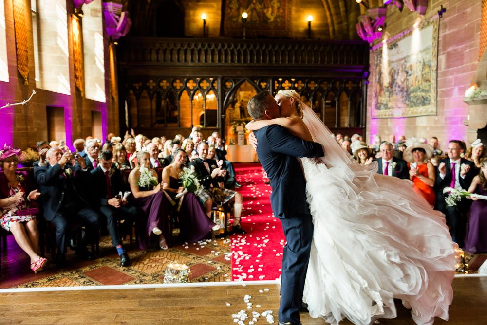 Castle Wedding at Peckforton Castle, Cheshire Owl Falconry Ian Stuart Bride Bandeoke - Jenny Harper Photography-46.jpg
