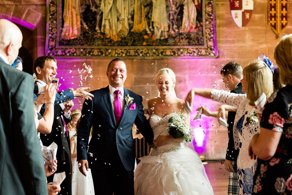 Castle Wedding at Peckforton Castle, Cheshire Owl Falconry Ian Stuart Bride Bandeoke - Jenny Harper Photography-49.jpg