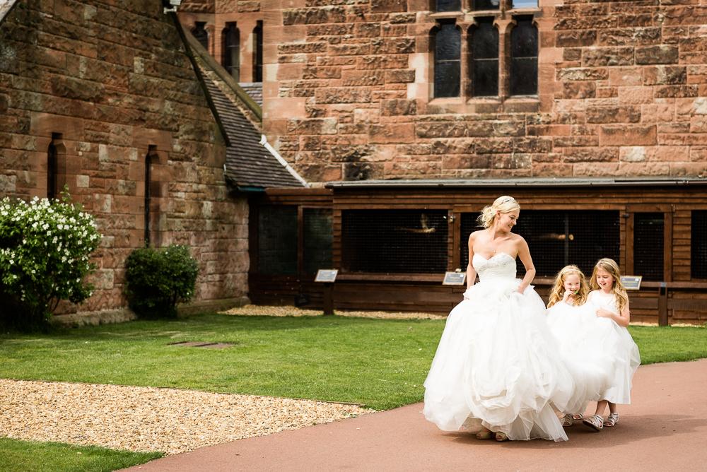 Castle Wedding at Peckforton Castle, Cheshire Owl Falconry Ian Stuart Bride Bandeoke - Jenny Harper Photography-57.jpg