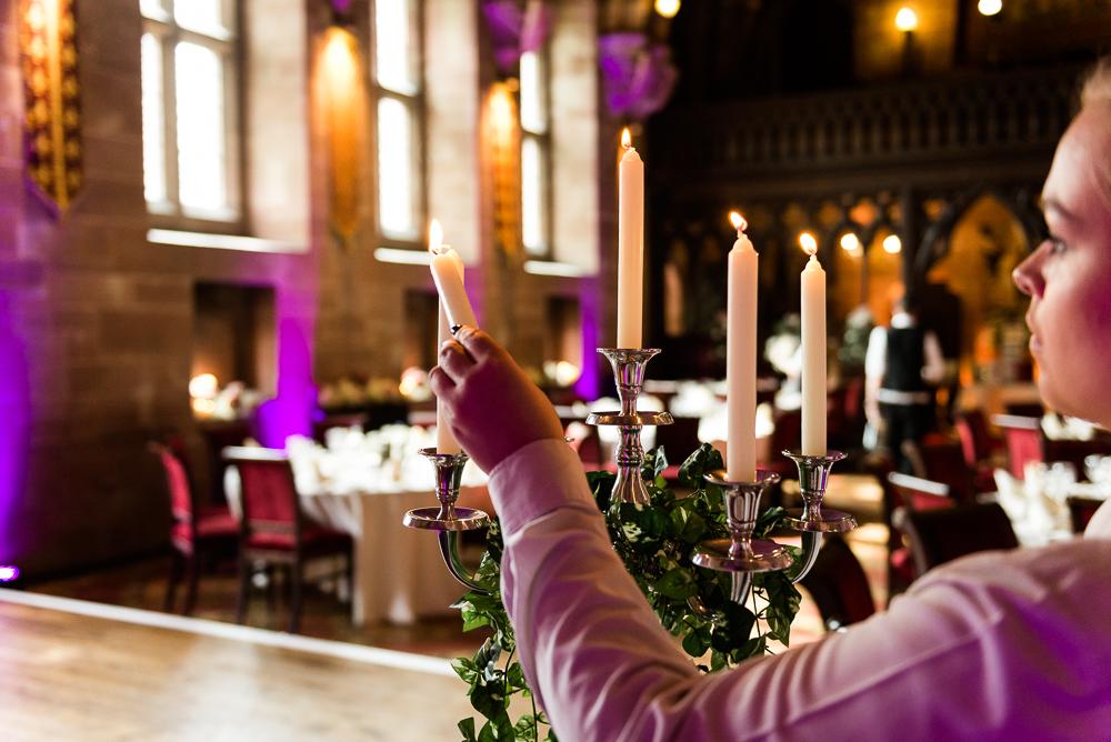 Castle Wedding at Peckforton Castle, Cheshire Owl Falconry Ian Stuart Bride Bandeoke - Jenny Harper Photography-64.jpg