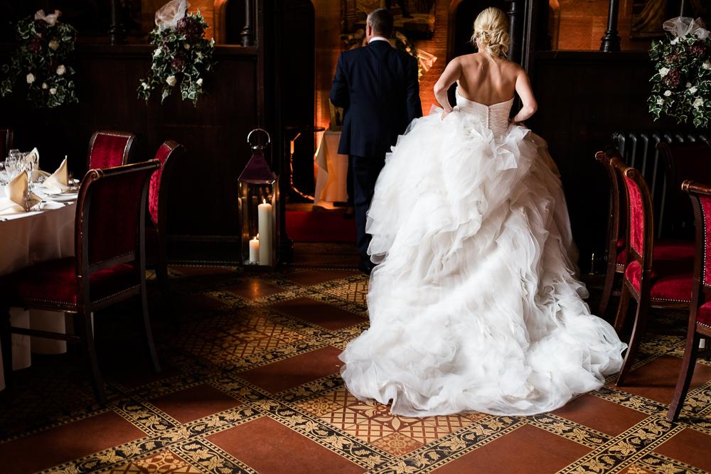 Castle Wedding at Peckforton Castle, Cheshire Owl Falconry Ian Stuart Bride Bandeoke - Jenny Harper Photography-70.jpg