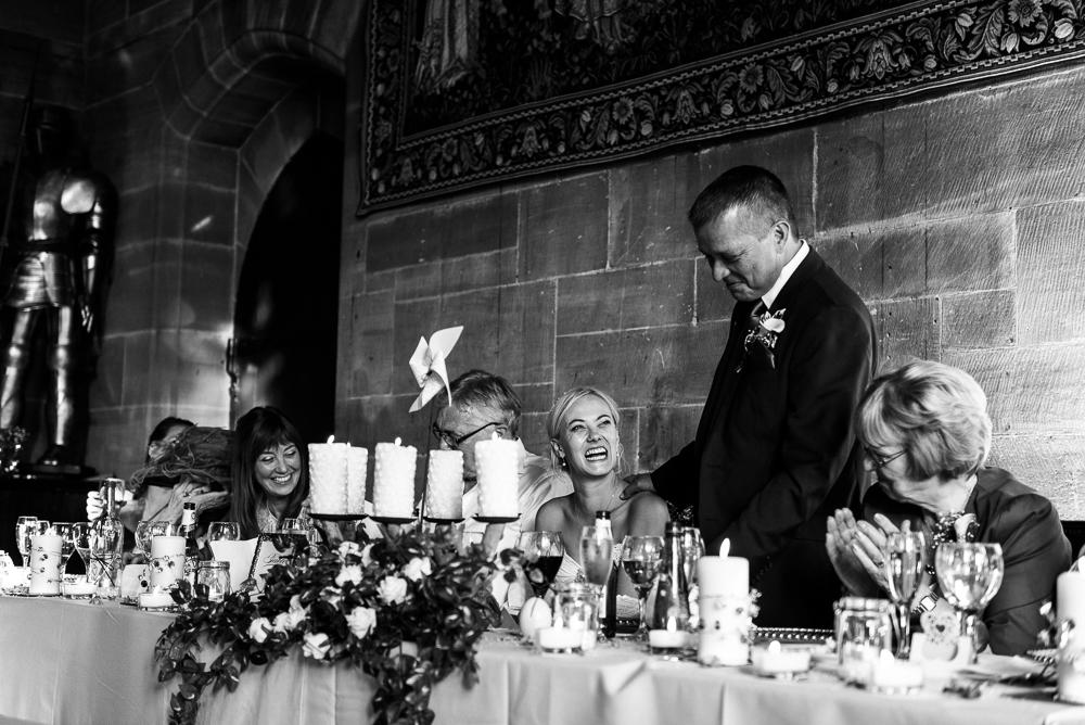 Castle Wedding at Peckforton Castle, Cheshire Owl Falconry Ian Stuart Bride Bandeoke - Jenny Harper Photography-78.jpg