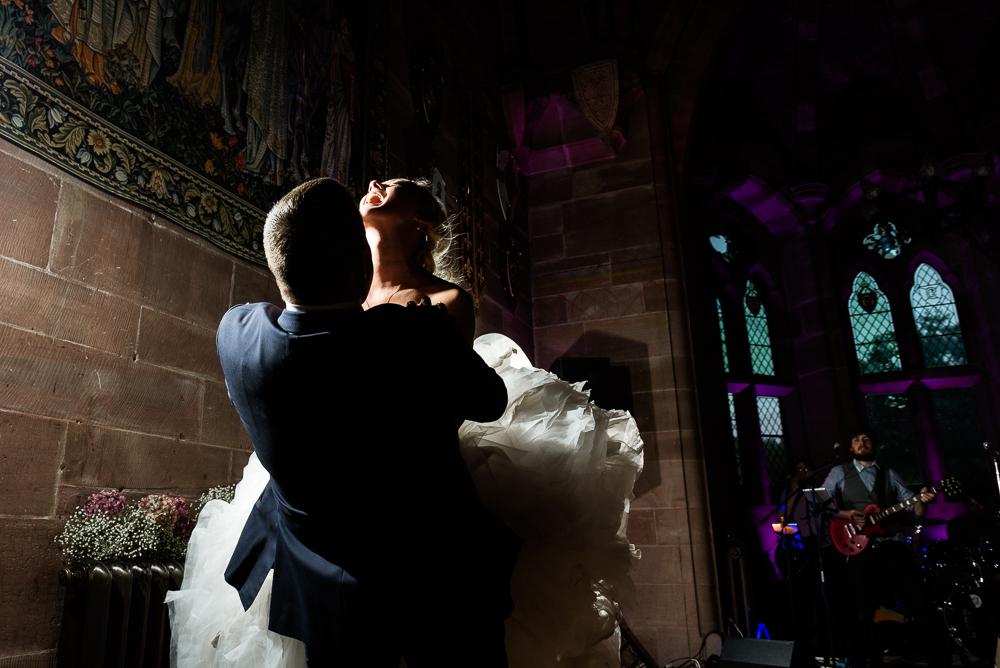 Castle Wedding at Peckforton Castle, Cheshire Owl Falconry Ian Stuart Bride Bandeoke - Jenny Harper Photography-95.jpg