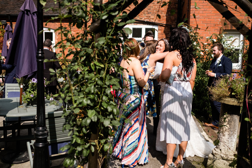 Relaxed Summer Wedding at The Manor, Cheadle Guitarist Musicians Vinyl-27.jpg