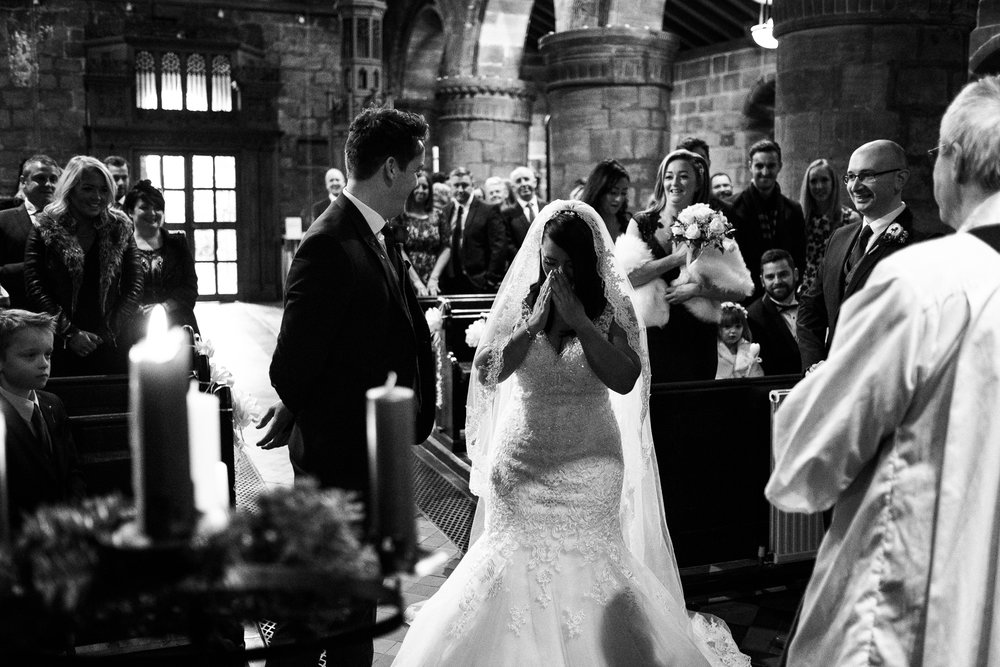 Winter Wedding Christmas Wedding Photography Stafford, Staffordshire Saint Chad Weston Hall Documentary Photographer - Jenny Harper-21.jpg