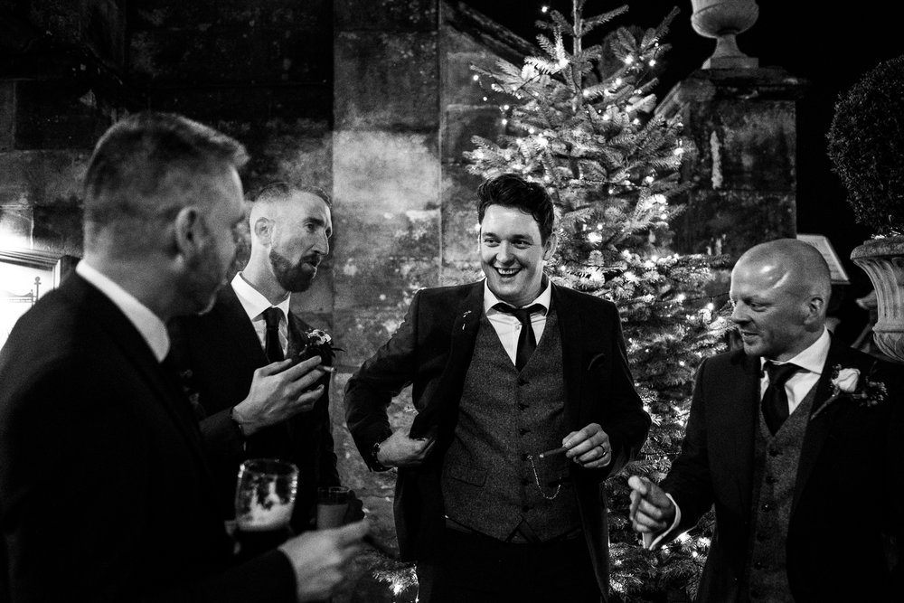 Winter Wedding Christmas Wedding Photography Stafford, Staffordshire Saint Chad Weston Hall Documentary Photographer - Jenny Harper-52.jpg