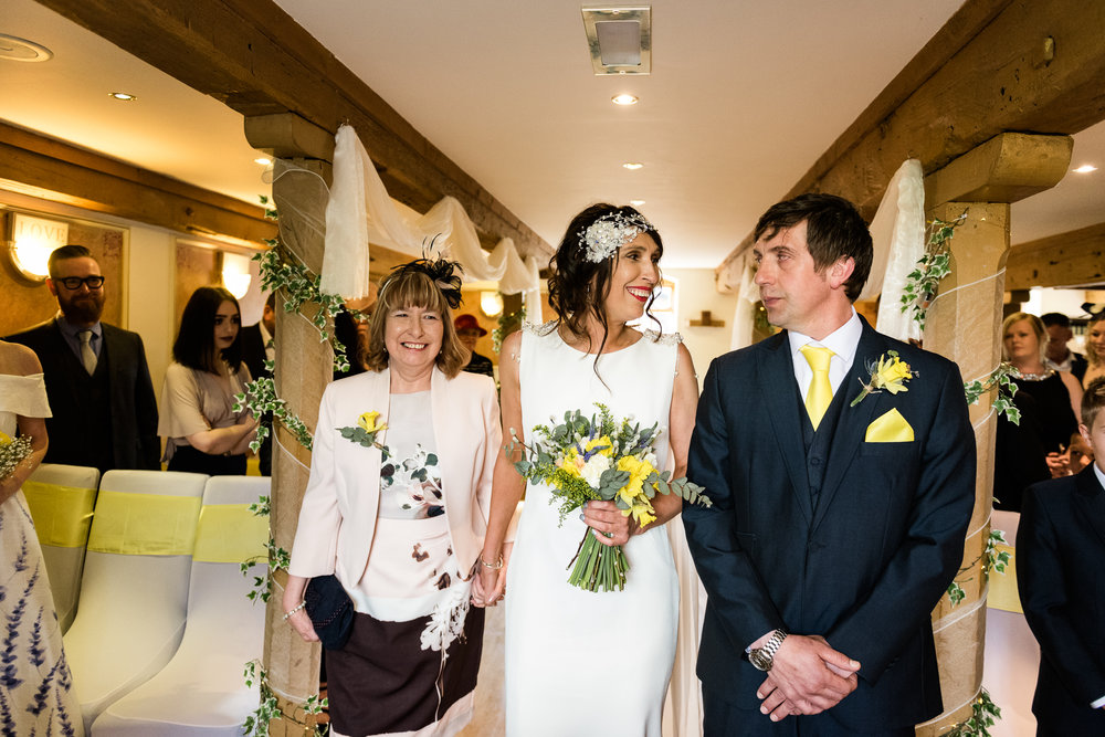 Stylish Sunny Spring Wedding at The Mill, Stone, Staffordshire Yellow Daffodills - Jenny Harper-25.jpg