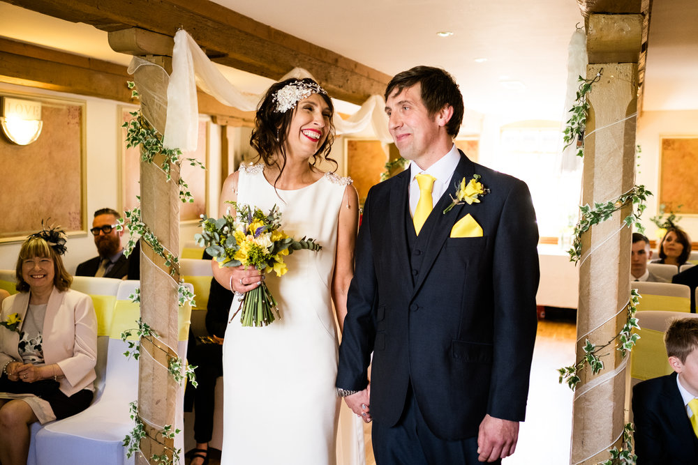 Stylish Sunny Spring Wedding at The Mill, Stone, Staffordshire Yellow Daffodills - Jenny Harper-27.jpg