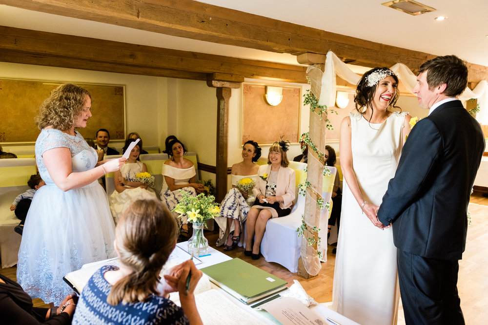 Stylish Sunny Spring Wedding at The Mill, Stone, Staffordshire Yellow Daffodills - Jenny Harper-29.jpg