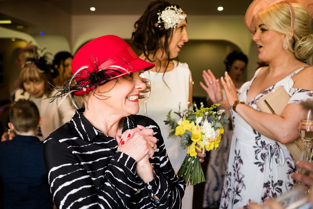 Stylish Sunny Spring Wedding at The Mill, Stone, Staffordshire Yellow Daffodills - Jenny Harper-31.jpg