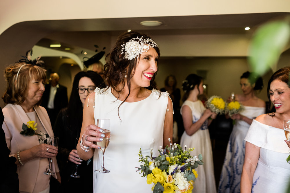 Stylish Sunny Spring Wedding at The Mill, Stone, Staffordshire Yellow Daffodills - Jenny Harper-32.jpg