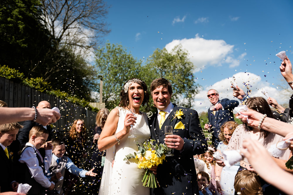 Stylish Sunny Spring Wedding at The Mill, Stone, Staffordshire Yellow Daffodills - Jenny Harper-33.jpg