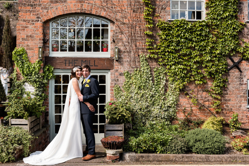 Stylish Sunny Spring Wedding at The Mill, Stone, Staffordshire Yellow Daffodills - Jenny Harper-34.jpg