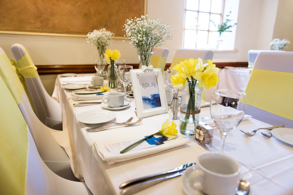 Stylish Sunny Spring Wedding at The Mill, Stone, Staffordshire Yellow Daffodills - Jenny Harper-40.jpg