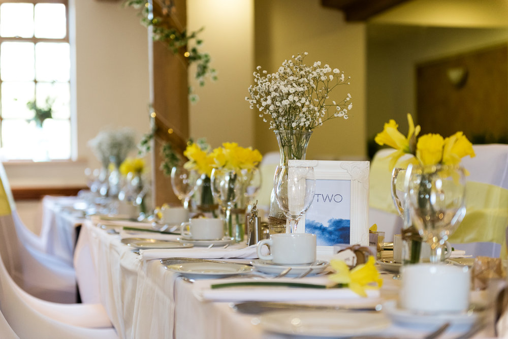 Stylish Sunny Spring Wedding at The Mill, Stone, Staffordshire Yellow Daffodills - Jenny Harper-42.jpg