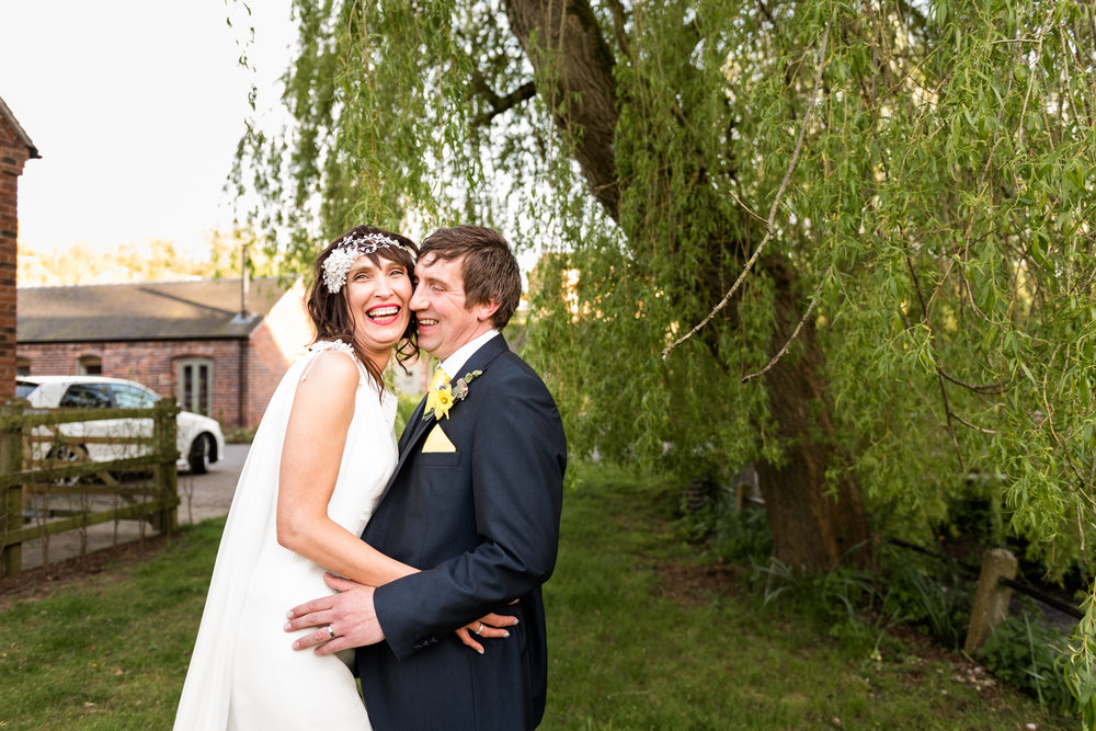 Stylish Sunny Spring Wedding at The Mill, Stone, Staffordshire Yellow Daffodills - Jenny Harper-61.jpg