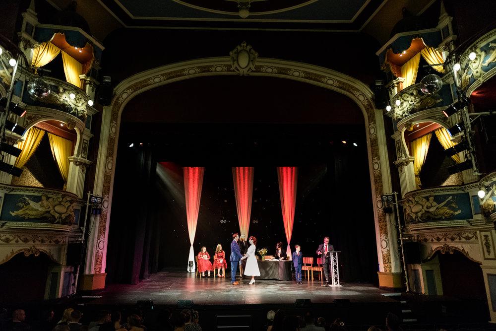 Cheshire Wedding Photography at Crewe Lyceum Theatre Stage Wedding Art Deco 20s - Jenny Harper-20.jpg