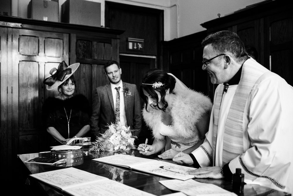 Staffordshire Winter Christmas Wedding at Holy Trinity Church and Keele Hall - Documentary Photography by Jenny Harper-24.jpg
