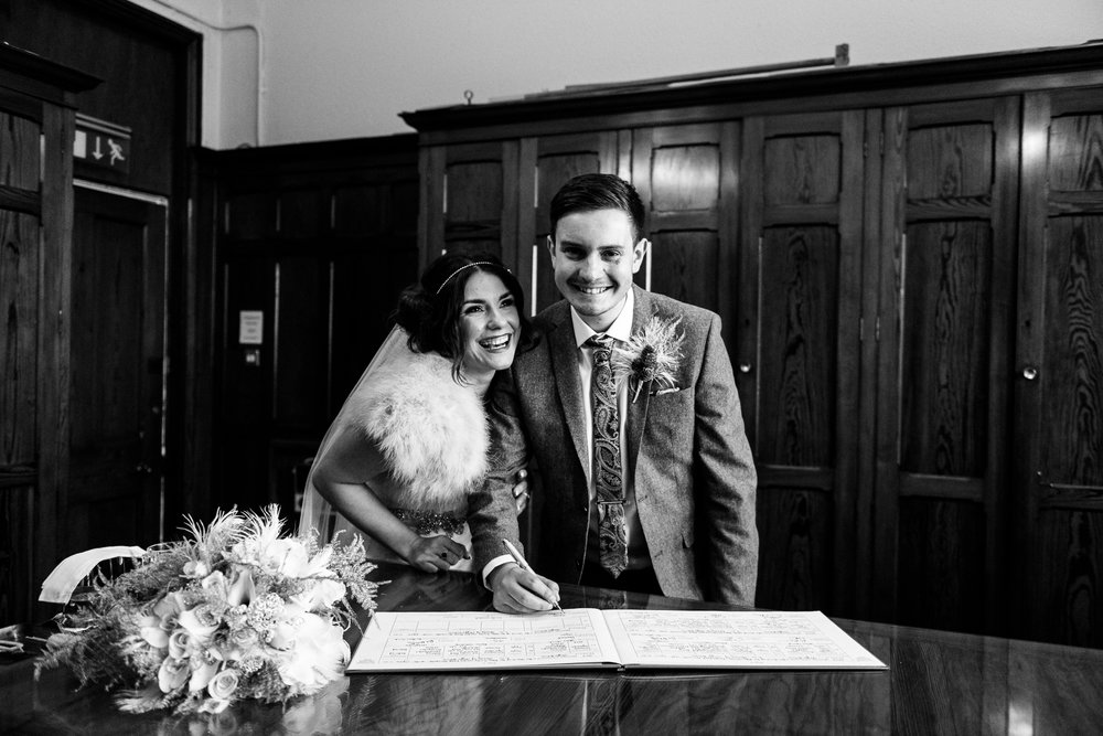 Staffordshire Winter Christmas Wedding at Holy Trinity Church and Keele Hall - Documentary Photography by Jenny Harper-25.jpg
