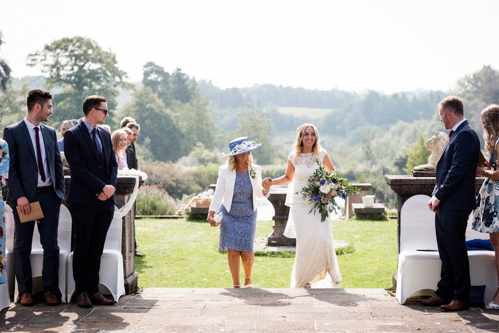 Summer Documentary Wedding Photography at Consall Hall Gardens Outdoor Ceremony Cockapoo dog - Jenny Harper-18.jpg