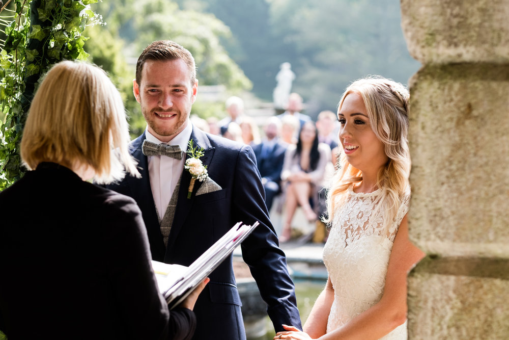 Summer Documentary Wedding Photography at Consall Hall Gardens Outdoor Ceremony Cockapoo dog - Jenny Harper-21.jpg
