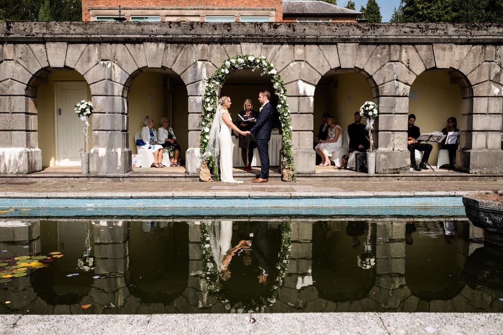 Summer Documentary Wedding Photography at Consall Hall Gardens Outdoor Ceremony Cockapoo dog - Jenny Harper-22.jpg
