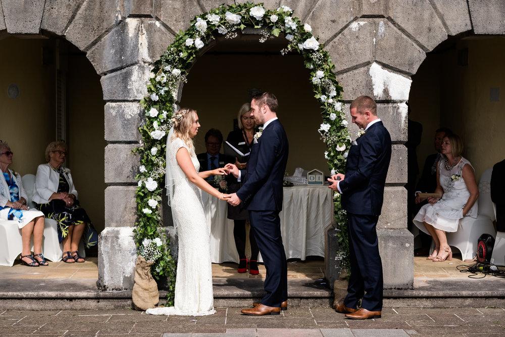 Summer Documentary Wedding Photography at Consall Hall Gardens Outdoor Ceremony Cockapoo dog - Jenny Harper-23.jpg