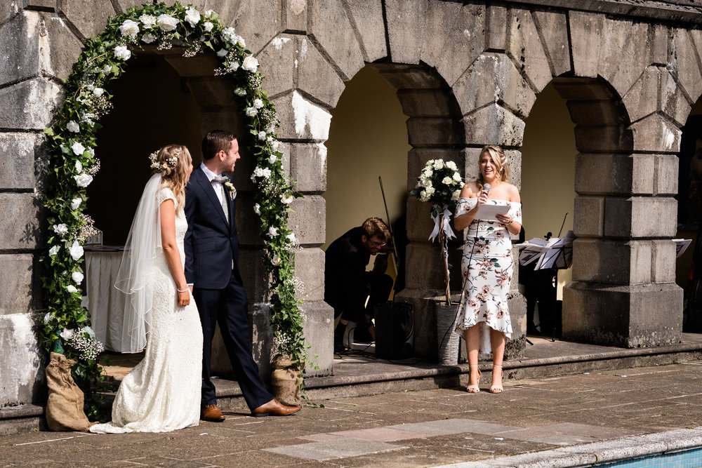 Summer Documentary Wedding Photography at Consall Hall Gardens Outdoor Ceremony Cockapoo dog - Jenny Harper-24.jpg