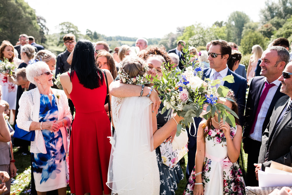 Summer Documentary Wedding Photography at Consall Hall Gardens Outdoor Ceremony Cockapoo dog - Jenny Harper-28.jpg