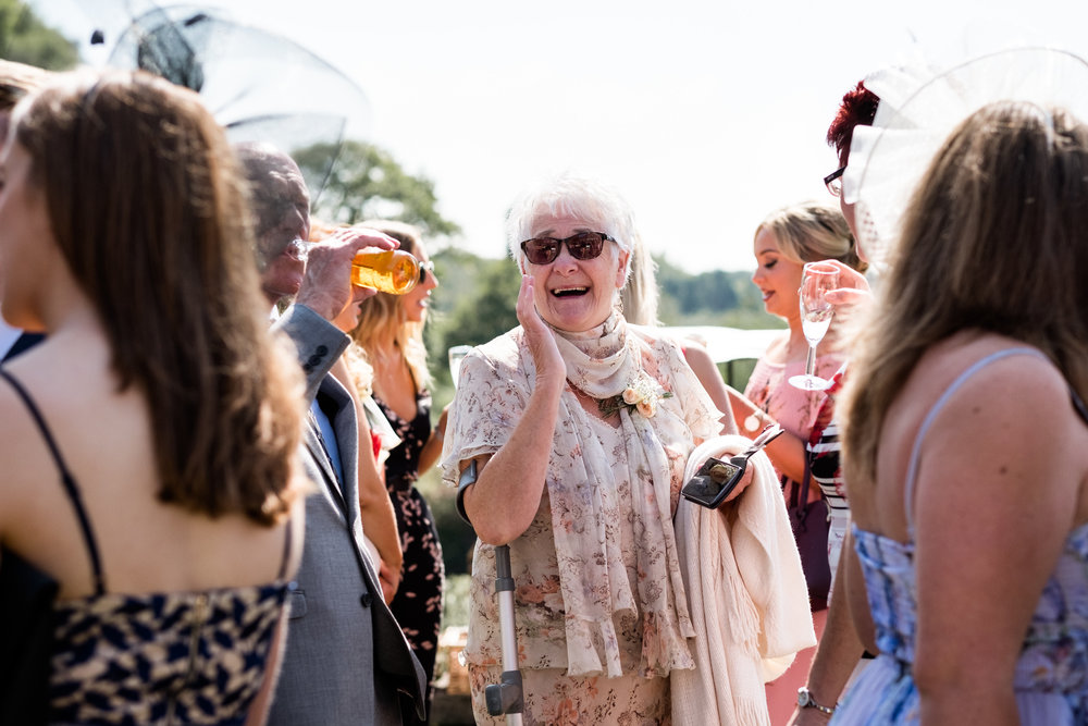 Summer Documentary Wedding Photography at Consall Hall Gardens Outdoor Ceremony Cockapoo dog - Jenny Harper-32.jpg