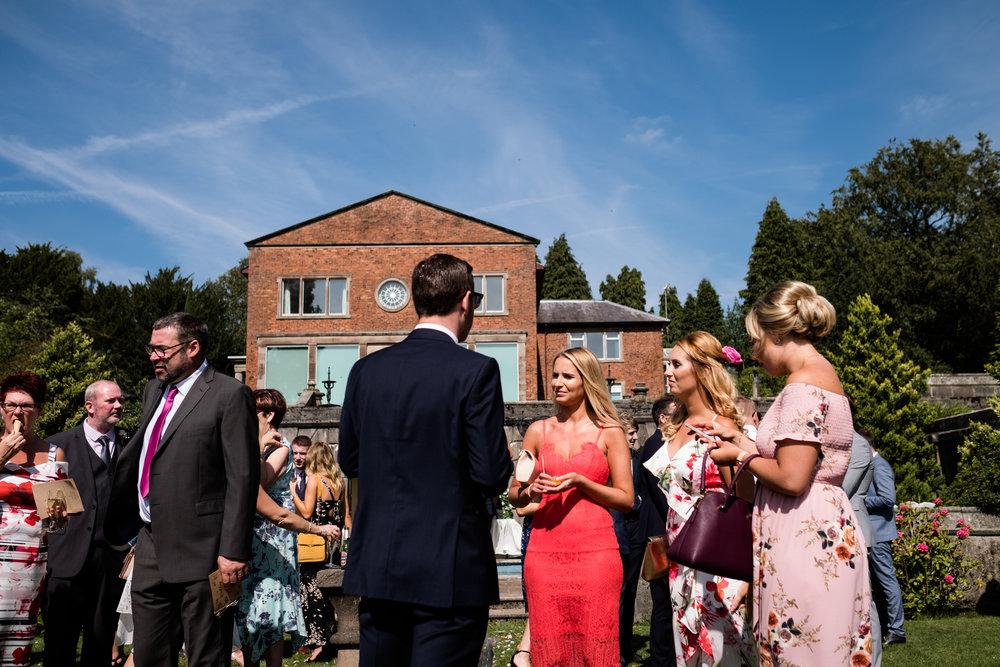 Summer Documentary Wedding Photography at Consall Hall Gardens Outdoor Ceremony Cockapoo dog - Jenny Harper-33.jpg