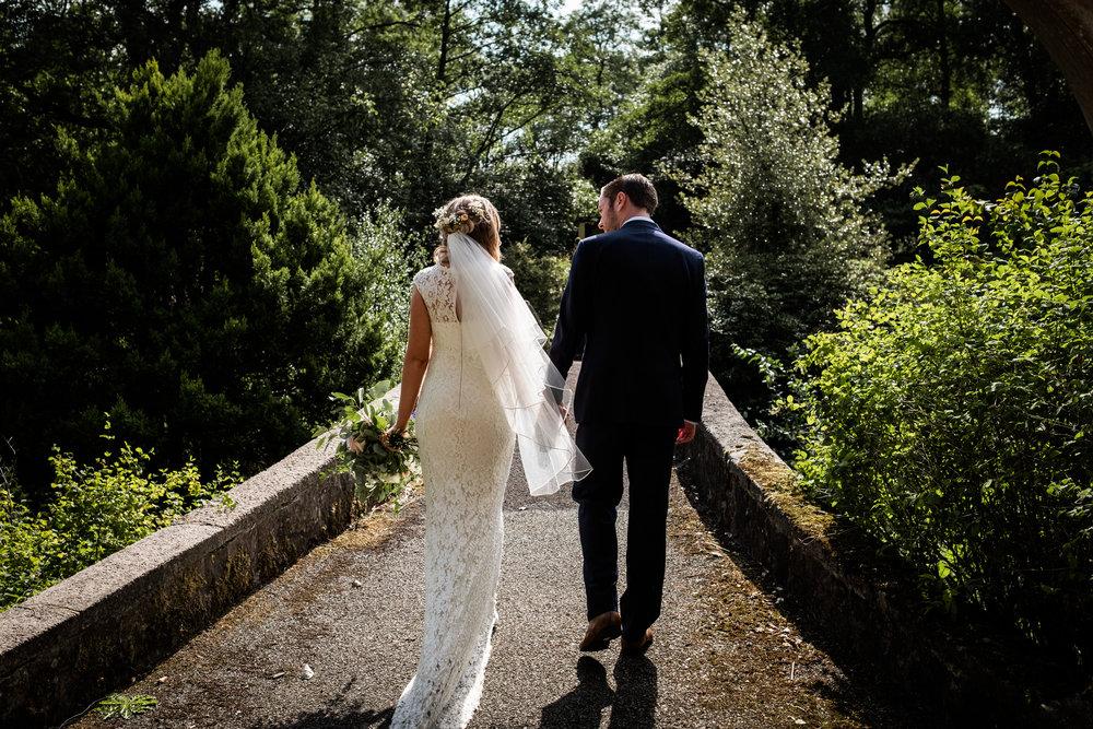 Summer Documentary Wedding Photography at Consall Hall Gardens Outdoor Ceremony Cockapoo dog - Jenny Harper-40.jpg