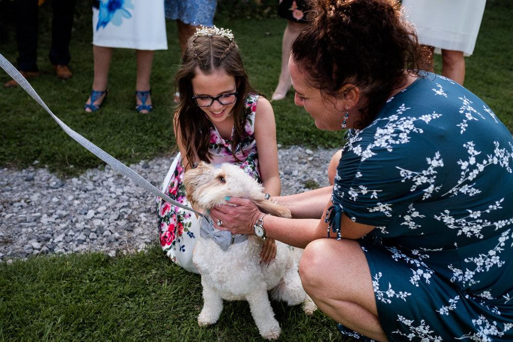 Summer Documentary Wedding Photography at Consall Hall Gardens Outdoor Ceremony Cockapoo dog - Jenny Harper-56.jpg