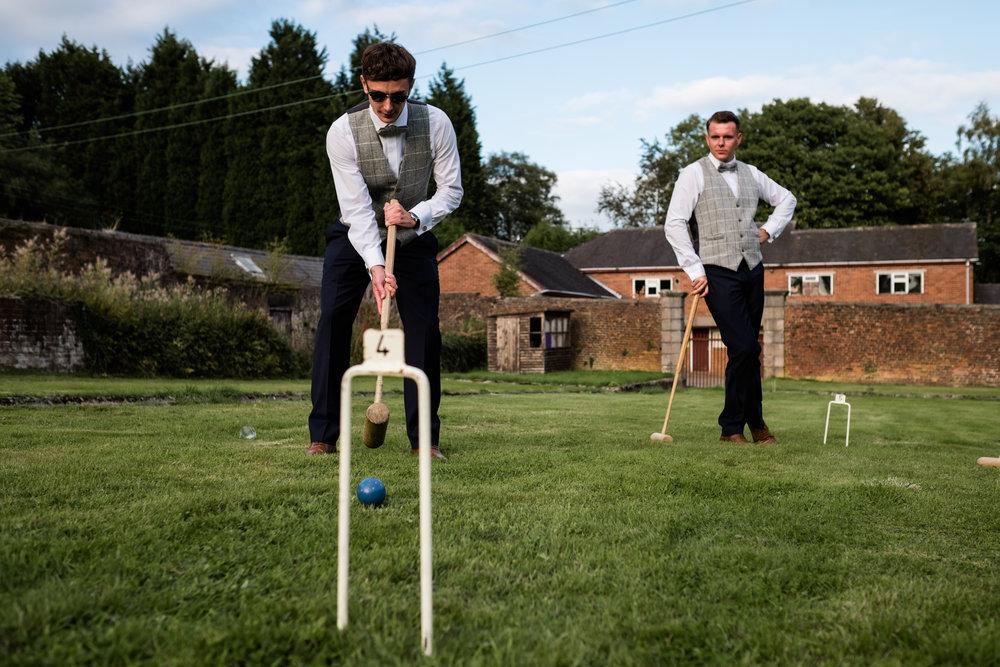 Summer Documentary Wedding Photography at Consall Hall Gardens Outdoor Ceremony Cockapoo dog - Jenny Harper-65.jpg