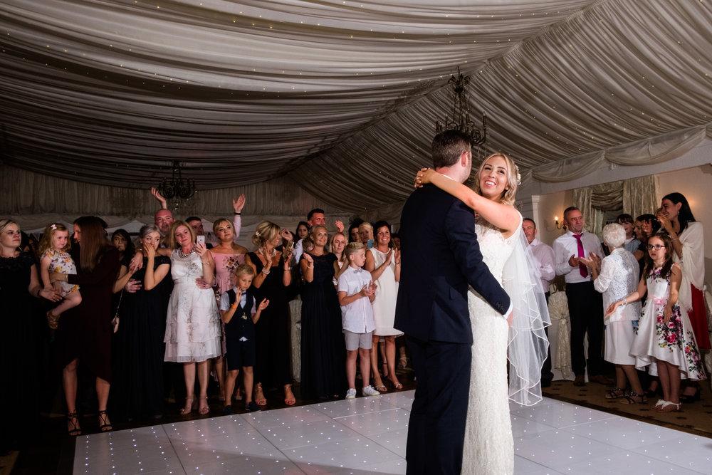 Summer Documentary Wedding Photography at Consall Hall Gardens Outdoor Ceremony Cockapoo dog - Jenny Harper-70.jpg