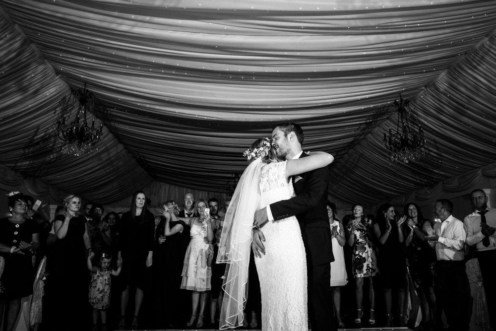 Summer Documentary Wedding Photography at Consall Hall Gardens Outdoor Ceremony Cockapoo dog - Jenny Harper-71.jpg