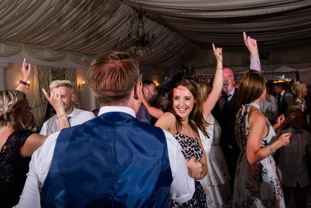 Summer Documentary Wedding Photography at Consall Hall Gardens Outdoor Ceremony Cockapoo dog - Jenny Harper-72.jpg