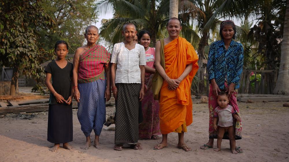 Sok Samnang and family.
